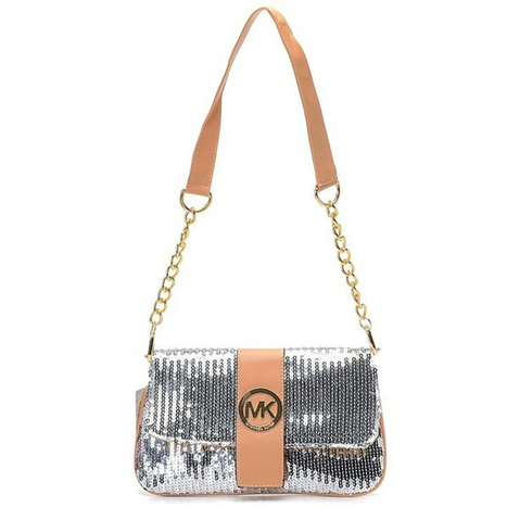 Lucky brand Michael Kors Fulton Messenger Small Silver Shoulder Bags at Prettybagoutlet | Fashion Inspiration | Scoop.it