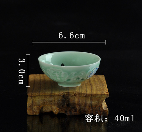 Yi exquisite celadon ceramics auspicious day cup tea cup tea cup effort | Black Tea | Scoop.it