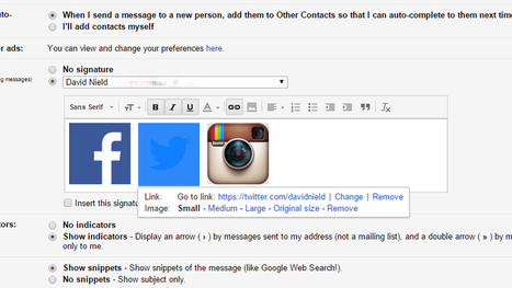 How to Add Social Media Links to Your Gmail Signature   Google in the Library & Classroom   Scoop.it