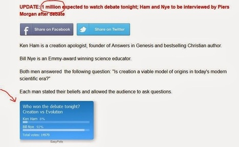 Viewers Poll by Christianity Today: Bill Nye Slaughtered Ken Ham   The Atheism News Magazine   Scoop.it