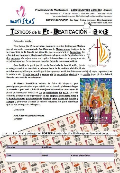 66 mártires maristas beatificados: 13-X-2013   mapuntocom   Scoop.it