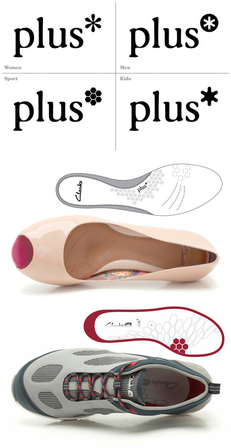 New Clarks Plus* (shoes) branding by Apropos | Corporate Identity | Scoop.it