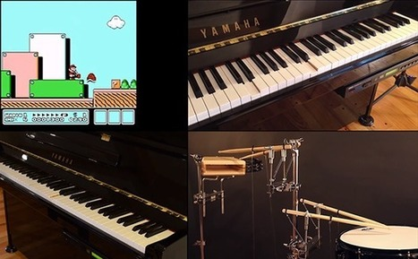 Nintendo Music Performed by Robotic Piano and Drums   Music Technology   Scoop.it