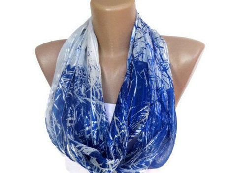infinity loop women chiffon scarf , fashion accessories for spring summer , trendy scarf | scarf | Scoop.it