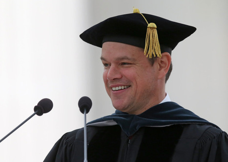 Matt #Damon delivered a moving politically-charged commencement speech at #MIT #science | Limitless learning Universe | Scoop.it