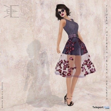 Hepburn Rose Dress in Plum Teleport Hub Group Gift by More Than Ever | Teleport Hub - Second Life Freebies | Second Life Freebies | Scoop.it