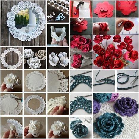 10 Creative Ways to Make Rose Crafts | Amazing interior design | Scoop.it