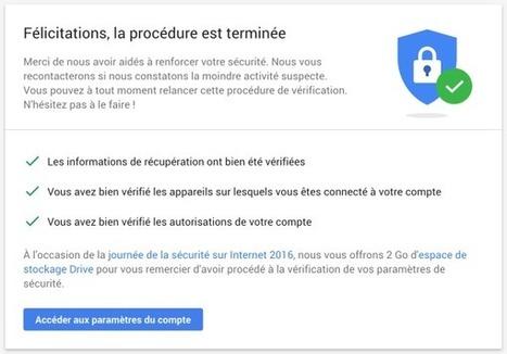 Google rajoute 2 Go à votre Drive si vous répondez à des questions de sécurité | Freewares | Scoop.it