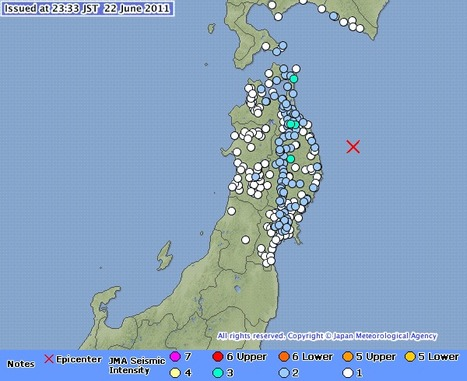 [séisme] Tremblement de terre au large d'Iwate   Earthquake Information   Japon : séisme, tsunami & conséquences   Scoop.it
