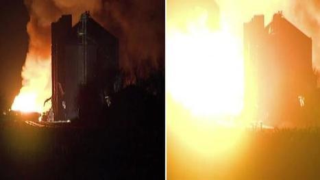 WATCH: Explosion rocks Minnesota town after train derailment | Railway's derailments and accidents | Scoop.it