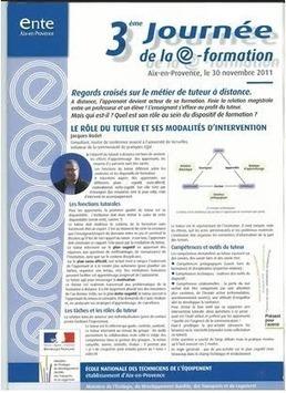Les actes des 3e journées de la e-formation - ENTE - Jacques Rodet   Site professionnel de Jacques Rodet   Scoop.it