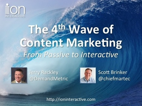 The 4th Wave of Content Marketing (recorded webinar) - Chief Marketing Technologist | IT Lead Generation and Appointment Setting Services Provider | Scoop.it