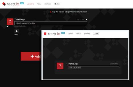 Reep.io : partager des fichiers en P2P dans le navigateur | Software innovations | Scoop.it