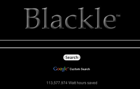 "Blackle vs. Google Monitor Power Consumption Tested | L'impresa ""mobile"" 
