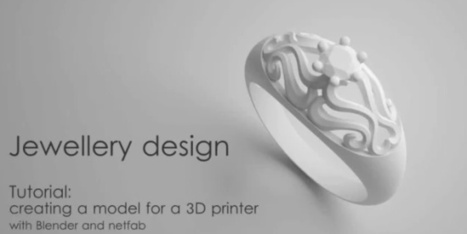 3ders.org - Tutorial: Designing Jewelry ring for a 3D printer with Blender and Netfabb   3D Printing news   Big and Open Data, FabLab, Internet of things   Scoop.it