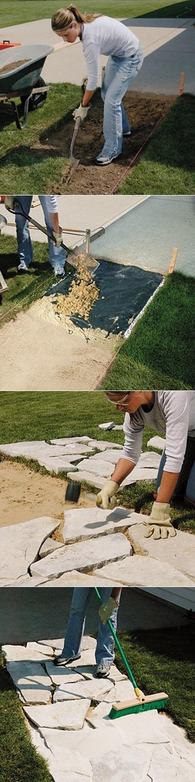 How to install a stone walkway | Backyard Gardening | Scoop.it