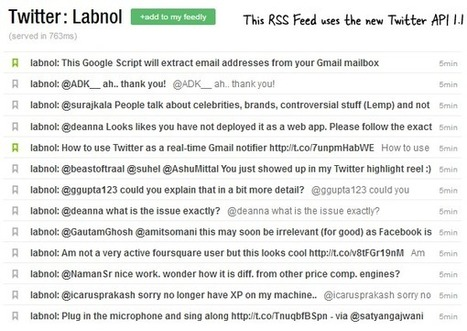 How to Get RSS Feeds for Twitter with the new API | La red y lo social | Scoop.it