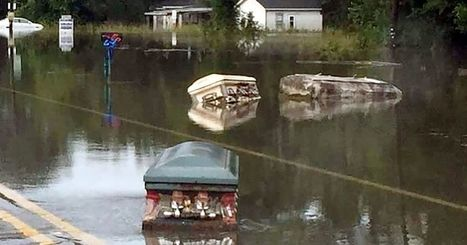 Coffins float down the street as Louisiana floods uproot caskets from graveyard   Xposing Government Corruption in all it's forms   Scoop.it