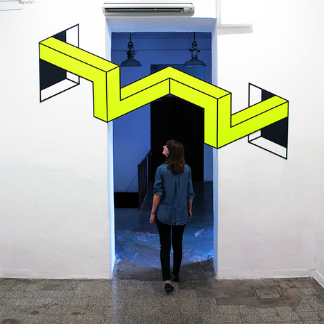 Art Installations in Rome Based on 3D Illusions: Vantage by Aakash Nihalani [Video] | The brain and illusions | Scoop.it