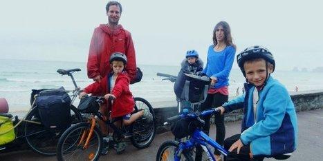 Insolite. Ils font 1250 km à vélo et en famille de la Bretagne au Pays basque   BABinfo Pays Basque   Scoop.it