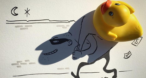 Artist Turns Shadows Of Everyday Objects Into Funny Sketches | DigitalSynopsis.com | Scoop.it