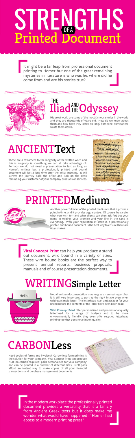Strengths of a Printed Document - Vital Concept Print | Digital Marketing Tips - SEO | SMO | PPC | Scoop.it