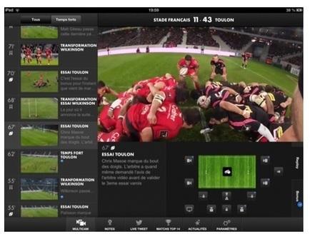 Second écran, Canal+ fait la part belle au rugby | Le deuxième écran, la télévision sociale en marche. | Scoop.it