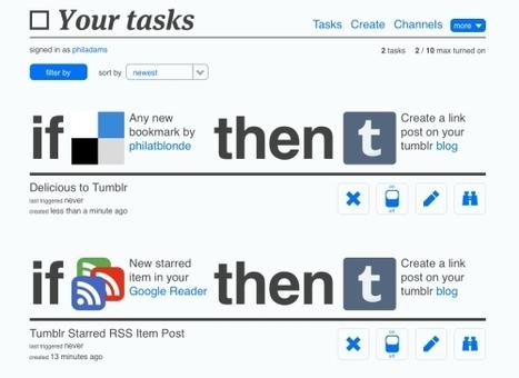 IFTTT, le couteau suisse pour optimiser votre usage du web et des réseaux sociaux | Outils et  innovations pour mieux trouver, gérer et diffuser l'information | Scoop.it
