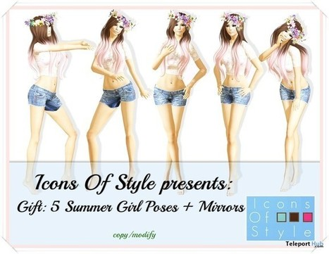 Summer Girl Poses by Icons Of Style | Teleport Hub - Second Life Freebies | Second Life Freebies | Scoop.it