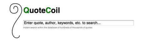 QuoteCoil, Instant Quote Search | Inspirational Ideas | Scoop.it