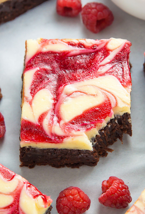 White Chocolate Raspberry Cheesecake Brownies | Passion for Cooking | Scoop.it