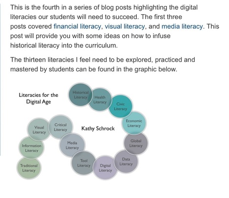 Literacies for the digital age: Historical literacy | Doing History | Scoop.it