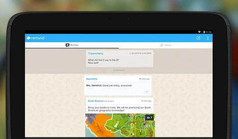 Remind: el Whatsapp de los docentes - aulaPlaneta | Utilidades TIC para el aula | Scoop.it