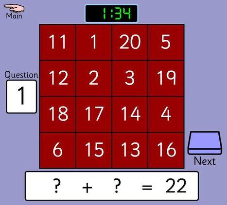 Grid Adio (Lefel 1 - cyfansymiau llai na 50) | Adnoddau Mathemateg | Scoop.it