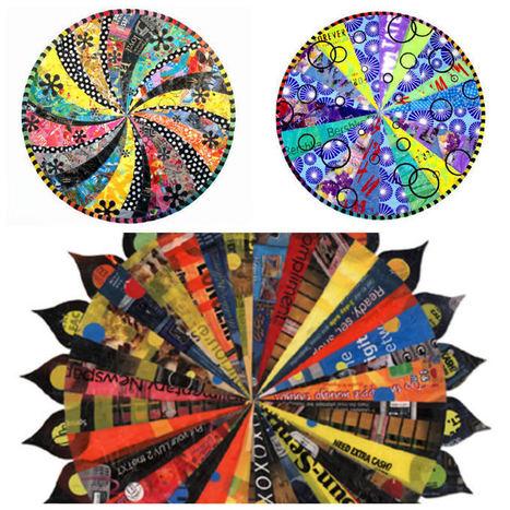 Plastic Bag Mandalas | Creatividiario: recursos, inspiración y motivación para creadores en la web | Scoop.it