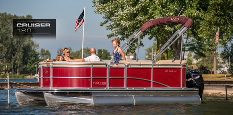 Cruiser 180: Harris FloteBote   Pontoon Boat for Sale   Family Pontoon Boats : 2013   Pontoon Boat   Scoop.it
