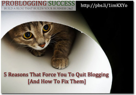 5 Reasons That Force You To Quit Blogging [And How To Fix Them] | metaphysics | Scoop.it