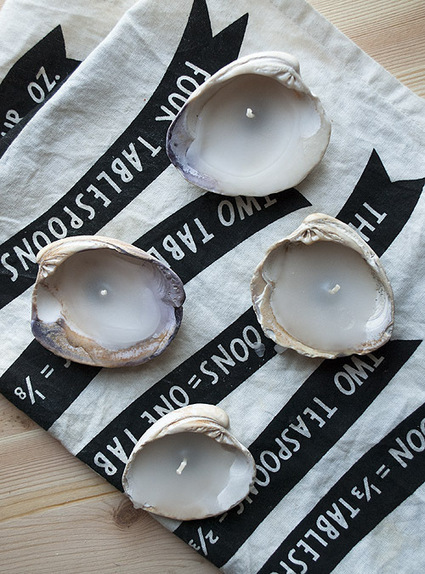 Entertaining DIY: Seashell Candles | Design*Sponge | Air Circulation and Ceiling Fans | Scoop.it