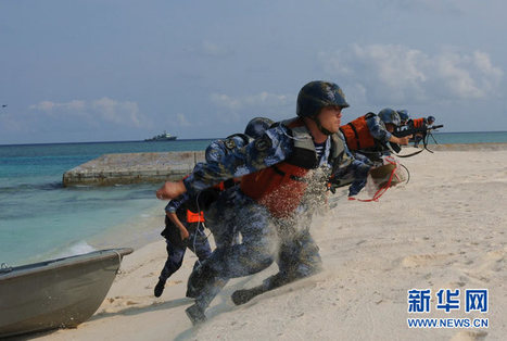 PLA Marines Conduct Amphibious Landings in South China Sea 海军舰艇编队在南海开展立体抢滩登陆训练_新华军事_新华网 | Epitome de Caesaribus | Scoop.it