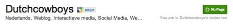 Handige tips voor Google+ Pages - DutchCowboys | Slimmer werken en leven - tips | Scoop.it
