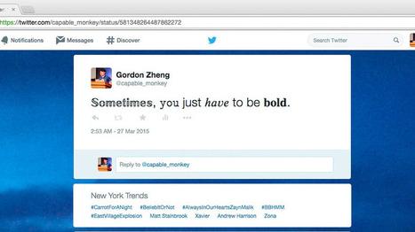 Extensión de Chrome para añadir formato a tus tweets | Educacion, ecologia y TIC | Scoop.it