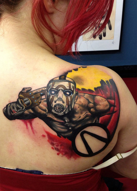 Amazing Borderlands Box Art Tattoo | All Geeks | Scoop.it