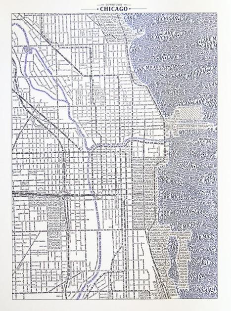 Cartes + mots = typographic maps   Journalisme graphique   Scoop.it