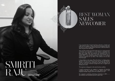Smiriti Raj Corporate Sales Manager, Abbott India Limite Best Woman Sales Newcomer Winne | Women In Sales | Scoop.it