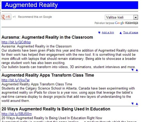 A Collection of Augmented Reality in Education Links | Augment My Reality | Scoop.it