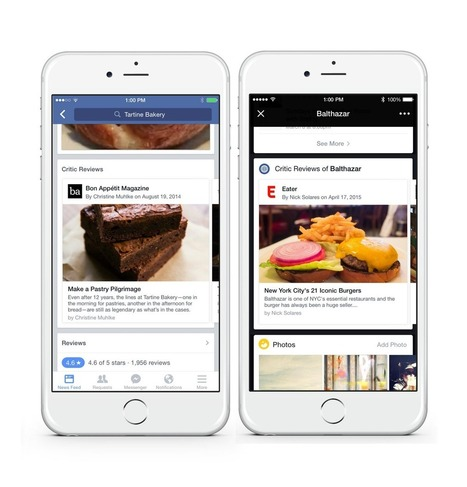 Facebook adds restaurant reviews | Charliban Worldwide | Scoop.it