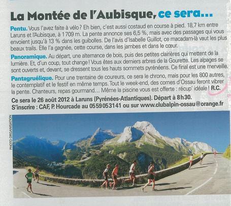 La Montée de l'Aubisque sur Jogging International (N°334/Août 2012) | Challenge d'Ossau | Scoop.it