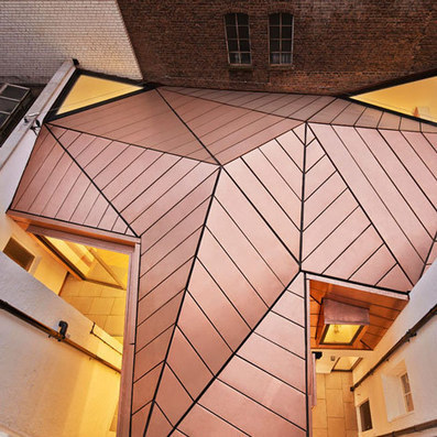 Office extension with a faceted copper roof by Emrys Architects | Architecture and Architectural Jobs | Scoop.it