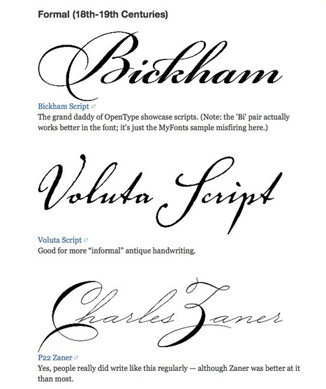 What's the best handwriting font? | What's new in Visual Communication? | Scoop.it