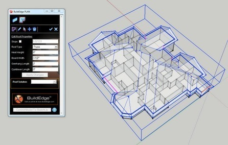 Official SketchUp Blog: Modeling SketchUp roofs on a click with Build Edge PLAN   The Architecture of the City   Scoop.it